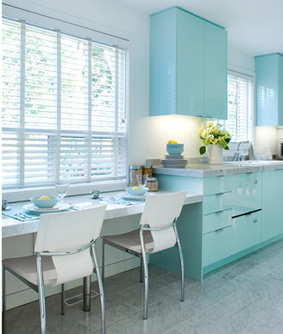 голубой цвет кухни фото