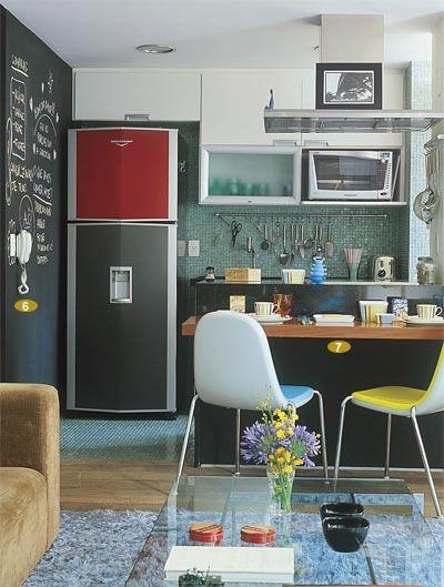 Cozinha dos Sonhos: Pequena e Colorida