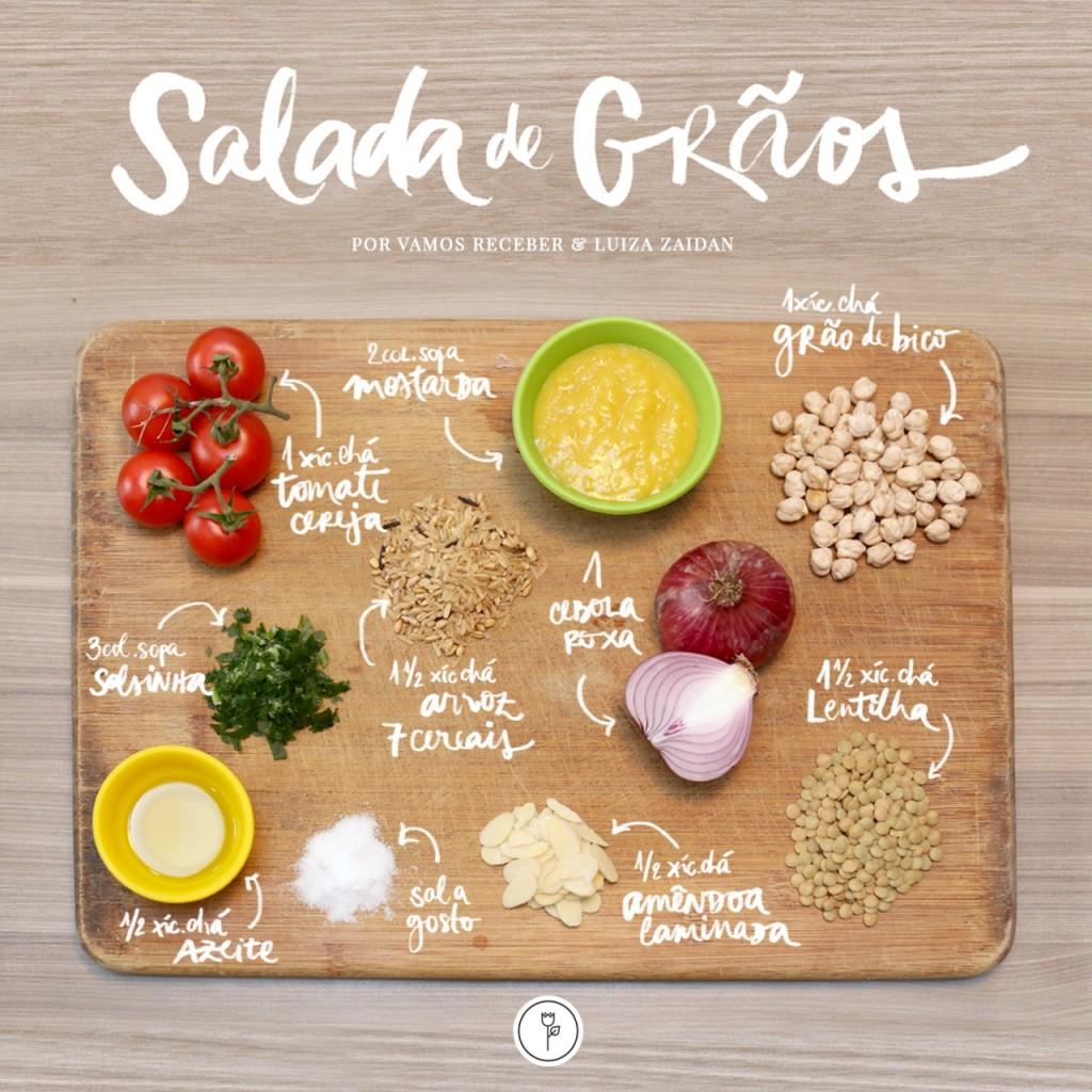 salada de graos